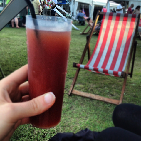 Day #231 - chilling with a Bloody Mary in Battersea Park