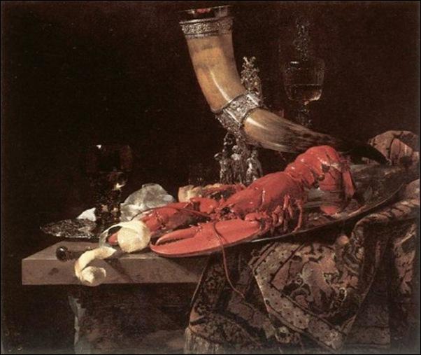 Wilhem Kallf, Nature morte au homard