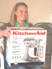 Beckys shower gift Kitchenaide mixer from Grandma Harju