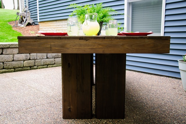 DIY Outdoor Patio Table Tutorial (Farmhouse)