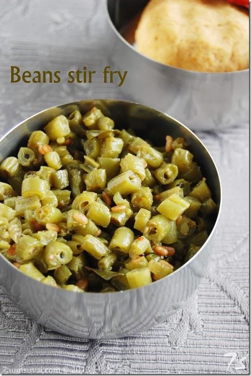 Beans stir fry