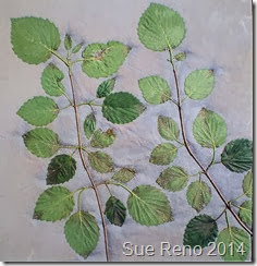 Vole and Viburnum, by Sue Reno, work in progress image 6