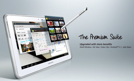 [Tablet] GALAXY Note 10.1 Premium Suite讓手寫平板更完美-Android 4.1版更新功能預覽!