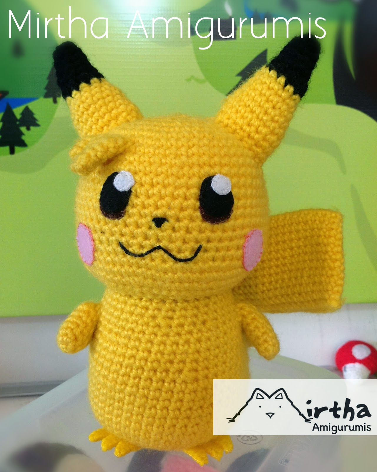 Mirtha Amigurumis: Baby Pikachu Amigurumi