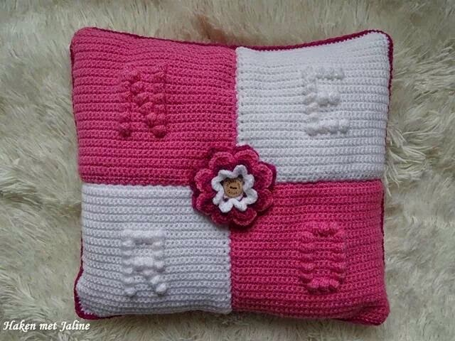 Hobbys Van Jacqueline Bobble Stitch Kussen