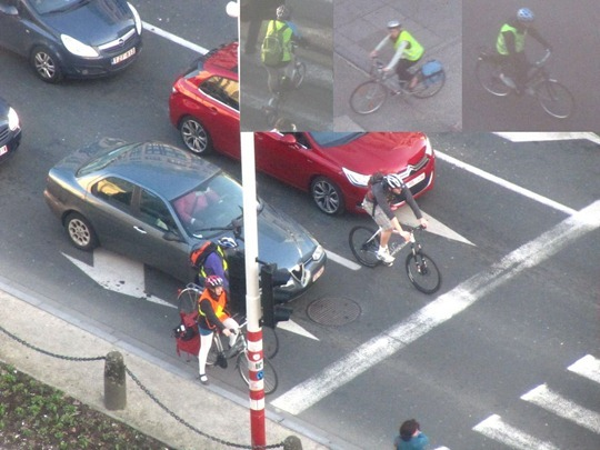 Cyclists in Brussels, Belgium