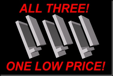 All three one low price