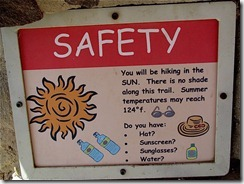 safety hiking sign 1