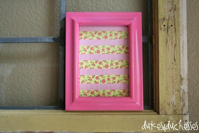 dry erase washi tape frame