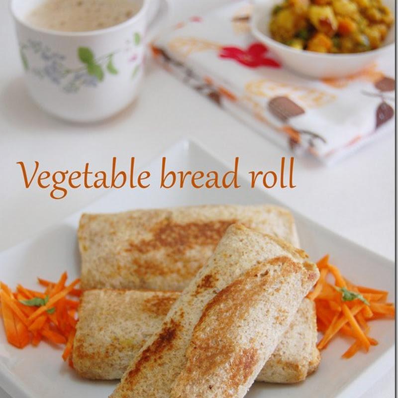 Vegetable bread roll
