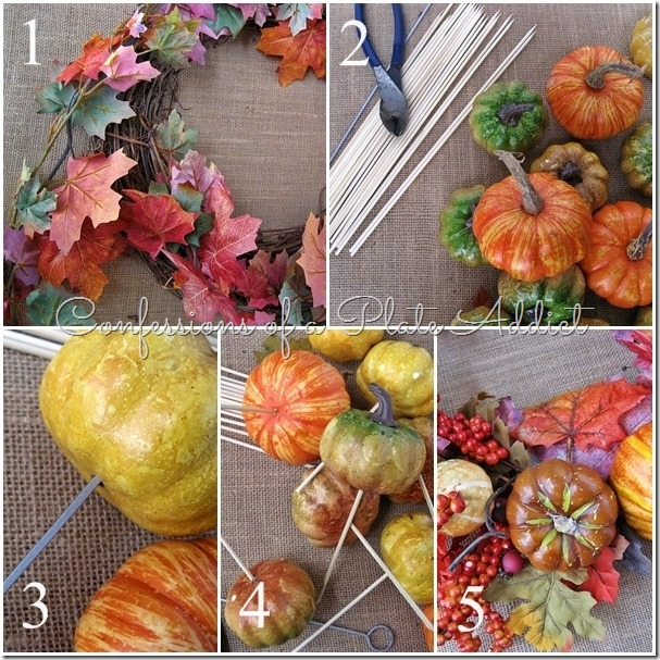 CONFESSIONS OF A PLATE ADDICT Pottery Barn Inspired Fall Wreath tutorial