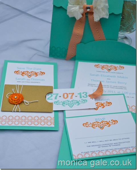 Stampin'Up! wedding stationery