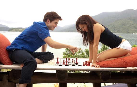 Edward and Bella playing chess in Breaking Dawn