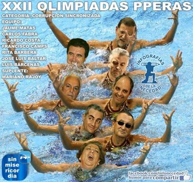 Peperías Olimpiadas corrupción