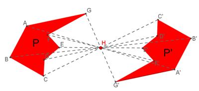 simmetria centrale