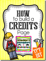 How to make a credits page that will make your life easier and can be used on all your products.