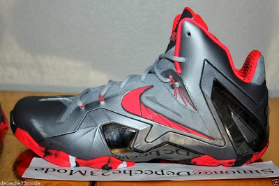 nike lebron 11 ps elite silver crimson camo 1 07 Nike LeBron XI PS Elite Wolf Grey Initial Drop in April for $275