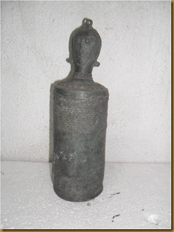 Patung antik 2 wajah - 1