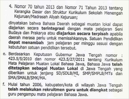 surat edaran kakanwil Jateng