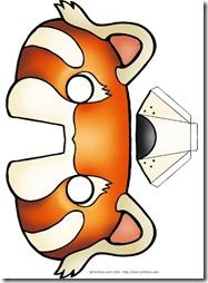 mascara-de-panda-rojo  blogcolorear