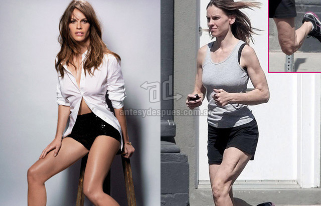 Cellulite of Hilary Swank