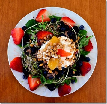 Spinach Salad - Today's Lunch 2