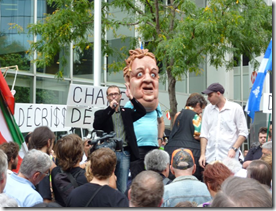 Manifestation contre la corruption