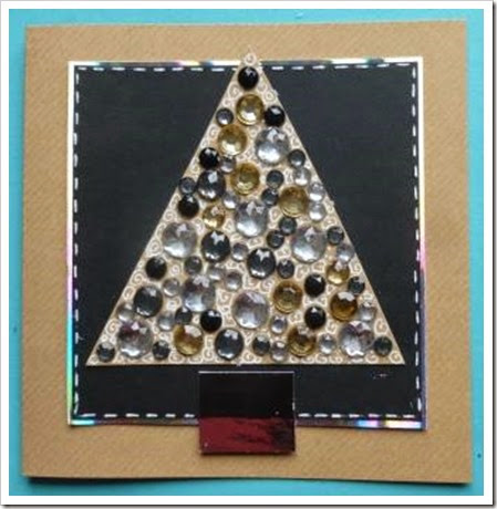 Jewelled Christmas Tree Card