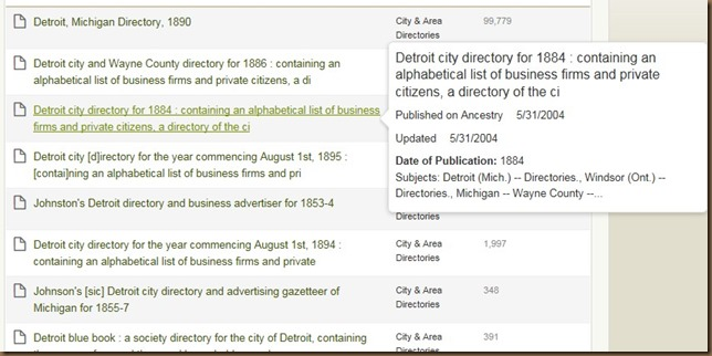 Detroit directory screenshot