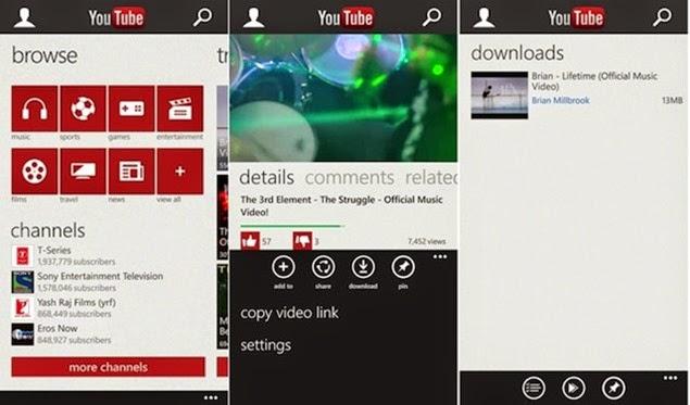 Youtube Downloader para Windows Phone