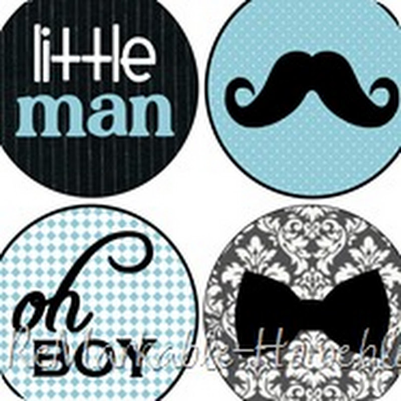 remarkable home little man shower cupcake toppers party printable