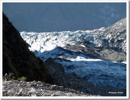 Halfway down the Fox Glacier.