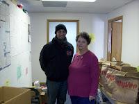 KCII's General Manager Joe Nichols delivering food at Community Action in Columbus Junction