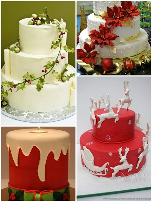 Christmas wedding 耶誕婚禮主題 聖誕 婚禮 x'mas wedding cake2