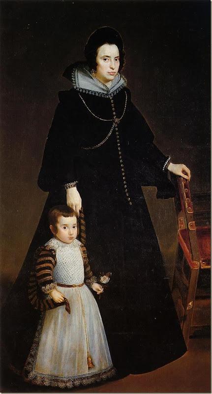 Velasquez, Doña Antonia de Ipeñarrieta et son fils