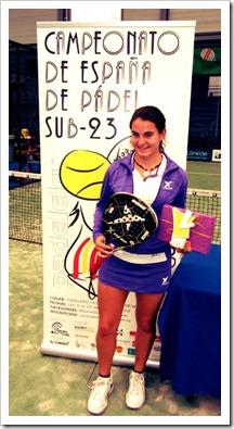 Bárbara Las Heras, jugadora Drop Shot conquista el Campeonato España Sub-23 de pádel.