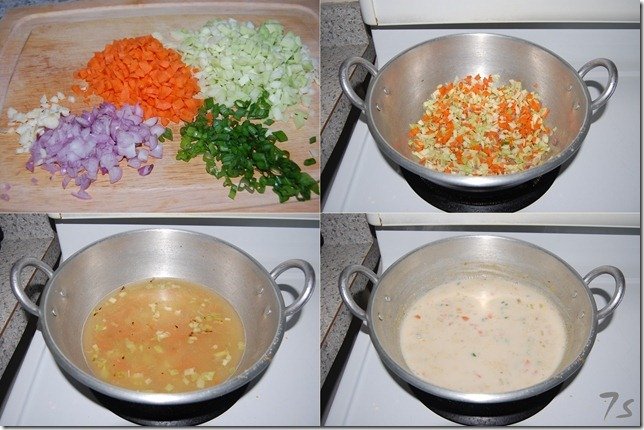 Oats soup process