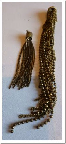 beaded metal tassle