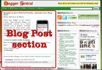 blog posts gadget template reset