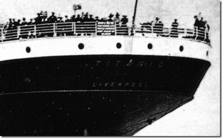 """""""Titanic Liverpool"""" era o letreiro de popa do navio"""