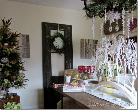 Holiday Dining Room Tour With A Buffet Tablescape Rustic Refined