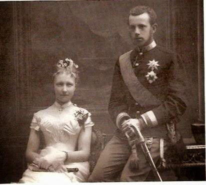 Estefanía de Be´lgica y Rodolfo de Austria enla época de su compromiso.