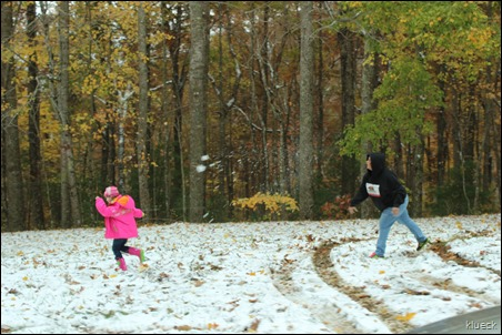throwing snowballs