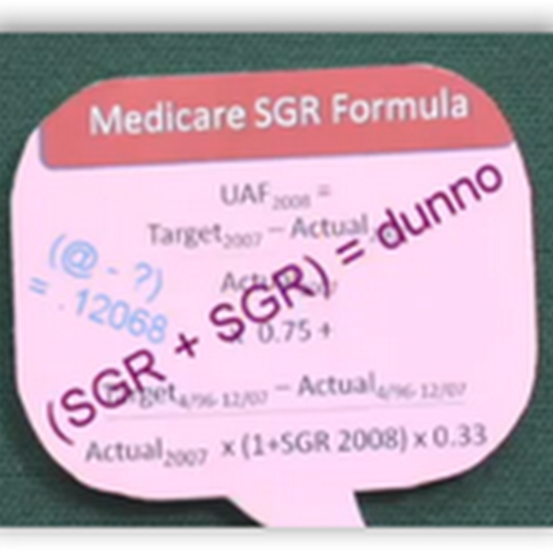 "Grandma and the ""Big Bad"" SGR That Looms To Fix Medicare Compensation for Doctors–New Year Same Problem for the Boneheads of the Hill"