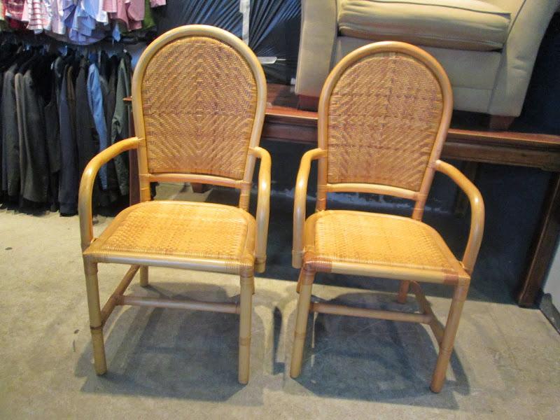 Cane Chair Pair