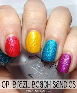 OPI Beach Sandies Mini Laquers from Brazil by OPI