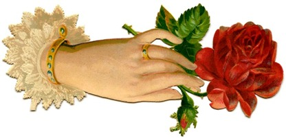 hand with rose vintage Image GraphicsFairy11b