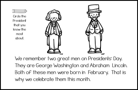 Presdient's Day mini book & graph3b
