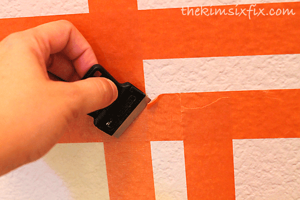 Cutting painters tape