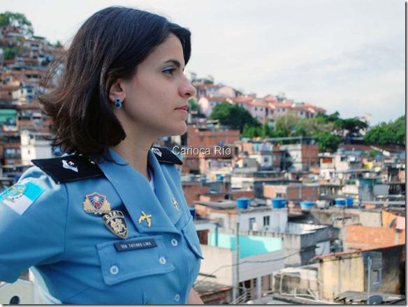 Tatiana atua em área pacificada no Rio de Janeiro